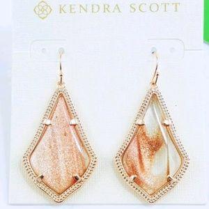 Kendra Scott Gold Dusted Glass Alex Drop Earrings